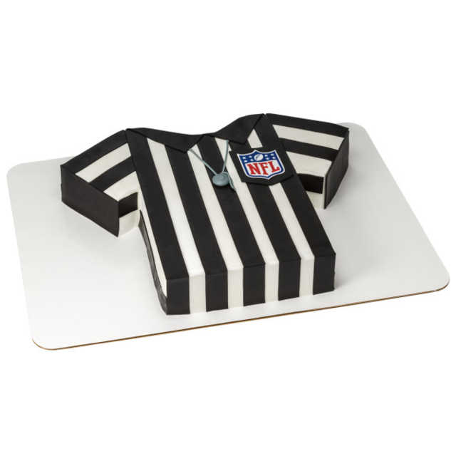 NFL Shield PhotoCake® Edible Image® on Referee Cut-Out Cake