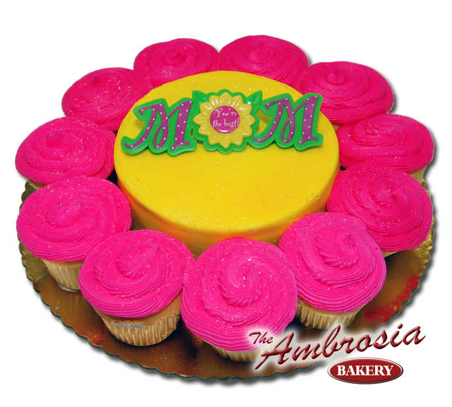 Happy Mother's Day Sunshine, Cupcakes with 6 Inch Cake
