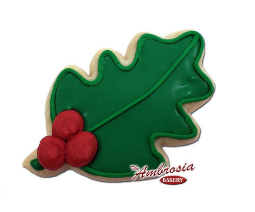 Decorated Mistletoe Cut-Out Cookie