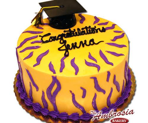 Tiger Graduation Cake