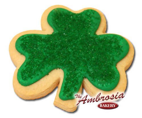 Decorated St. Patrick's Clover Cut-Out Cookie