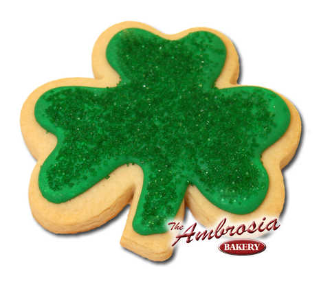 St. Patrick's Clover Cut-Out Cookie