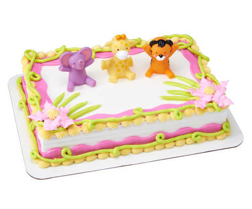 Safari Bath Toys DecoSet®  - Pink