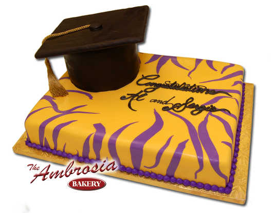 Fondant Tiger Graduation Cake