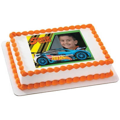 Hot Wheels Driven to Thrill PhotoCake® Frame