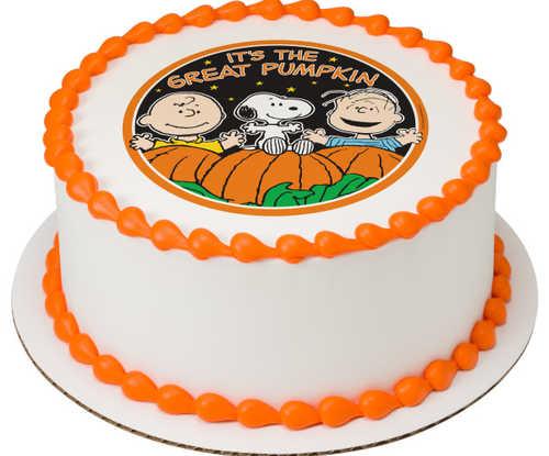Peanuts® The Great Pumpkin PhotoCake® Image