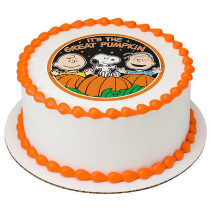 Peanuts® The Great Pumpkin PhotoCake® Image