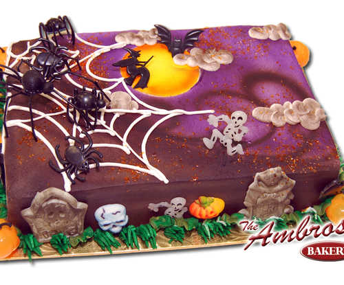 Creepy Spider Cake