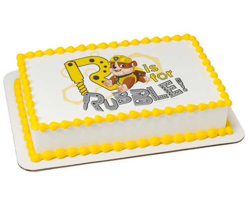 Paw Patrol-R is for Rubble PhotoCake® Image