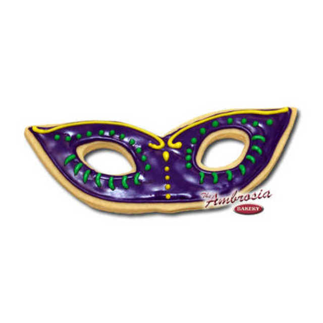 Decorated Mardi Gras Mask Cut-Out-Cookie #1