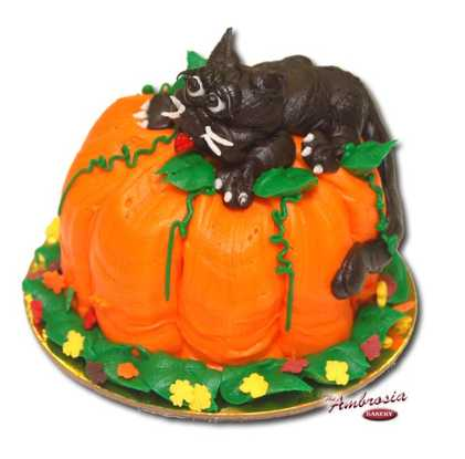 Cupcake Pumpkin Cat