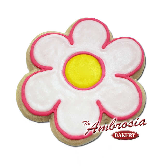Decorated Puff Flower Cut-Out Cookie