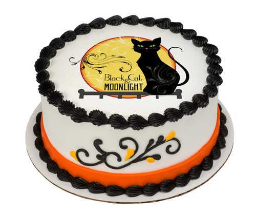 Black Cat PhotoCake® Image