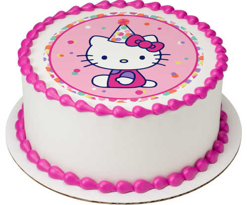 Hello Kitty® Party Hat PhotoCake® Edible Image®
