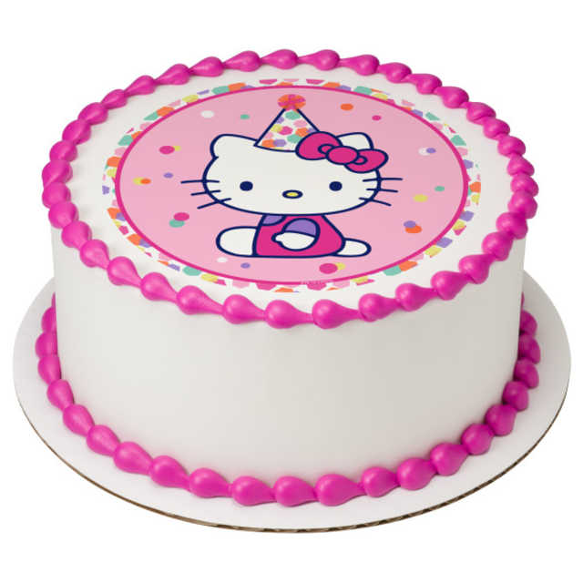 Hello Kitty® Party Hat PhotoCake® Edible Image®