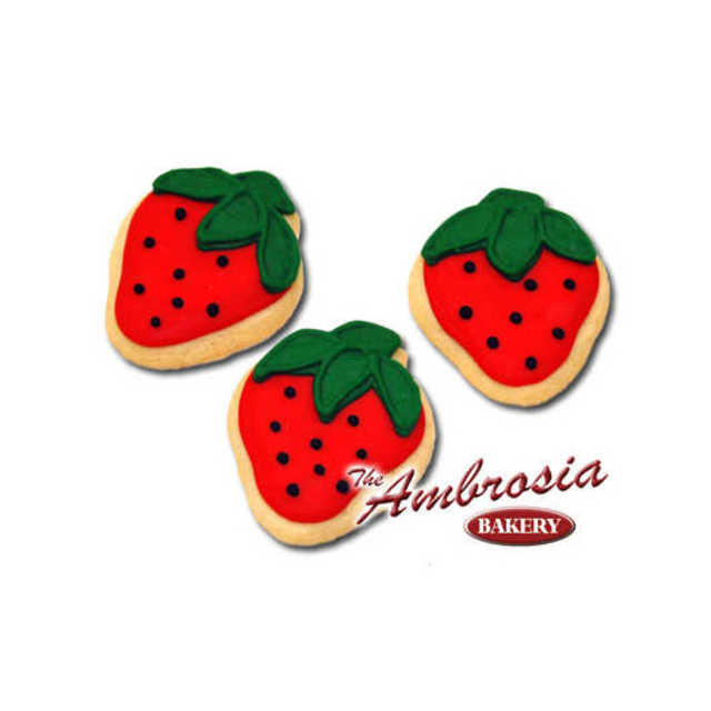 Decorated Strawberry Cut-Out Cookie