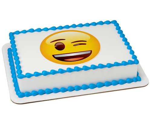 Emoji Winking PhotoCake® Image