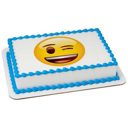 Emoji Winking PhotoCake庐 Image