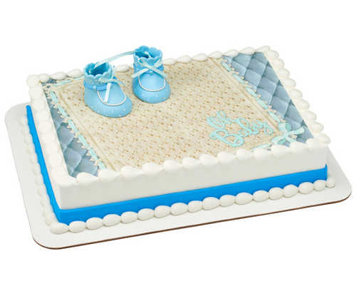 Blue Baby Booties PhotoCake® Edible Image® DecoSet® Background