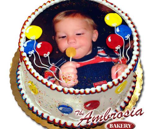 Custom Photo Cake
