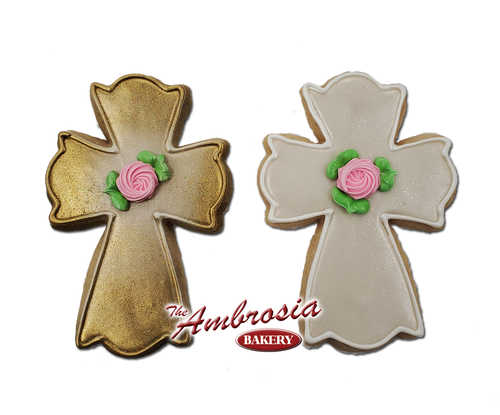Decorated Cross Cut-Out Cookie
