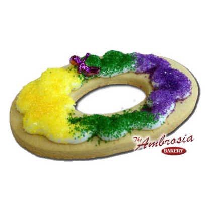 Mardi Gras King Cake Cut-Out Cookie