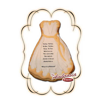 Bridesmaid Decorated Cut-Out Cookie