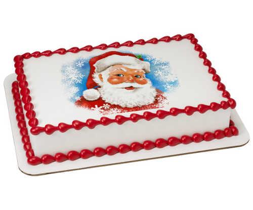 Classic Santa Caucasian PhotoCake® Edible Image®