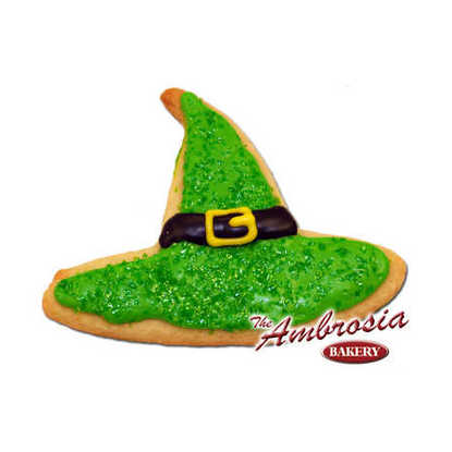 Halloween Witch Hat, Cut-Out Decorated Cookie