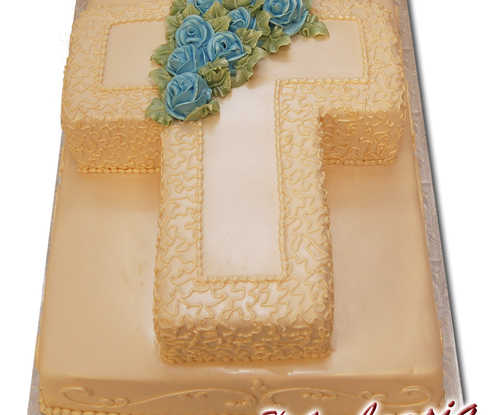 Cross On Fondant Sheet Cake