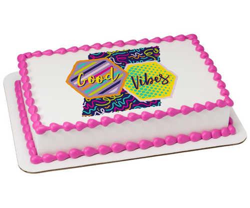 Good Vibes PhotoCake® Edible Image®