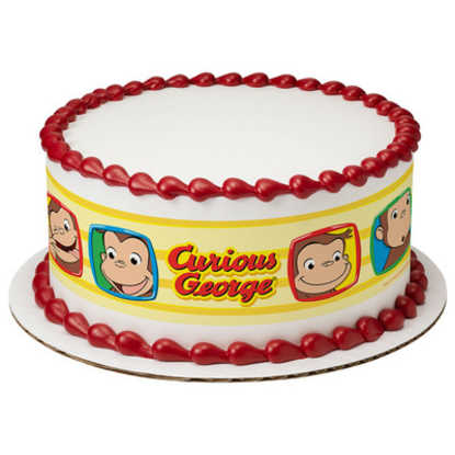 Curious George® Funny Faces PhotoCake® Image Strips