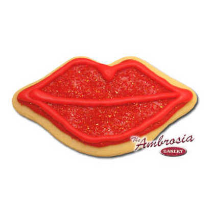 Hot Lips Cut-Out Cookie