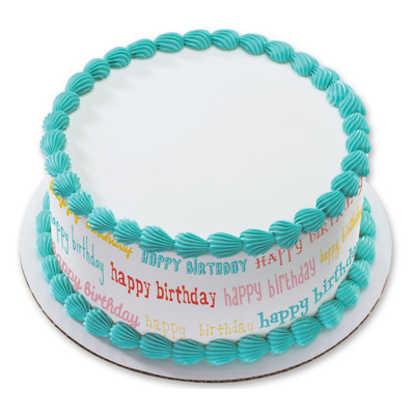 Birthday Blowout PhotoCake® Image Strips