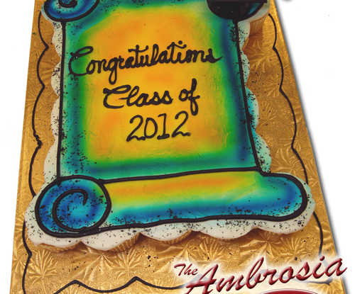 26 Cupcake Graduation Scroll