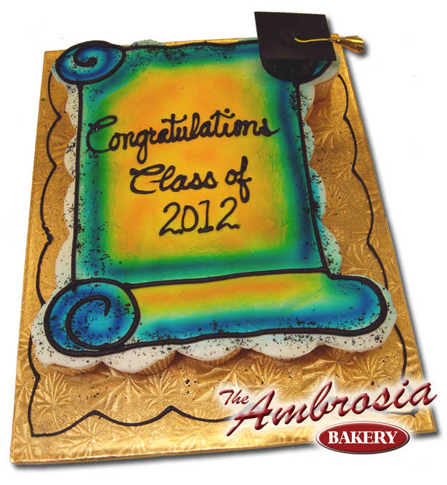 Graduation Scroll (26 Cupcakes)