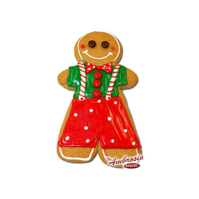 "Decorated Large Gingerbread ""Boy"" Cut-Out Cookie!"