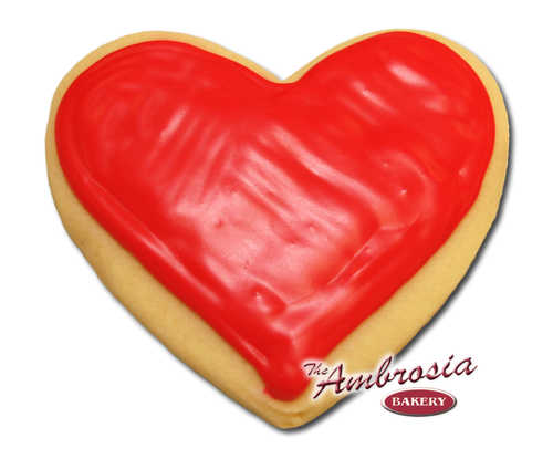 Decorated Heart Cut-Out Cookie