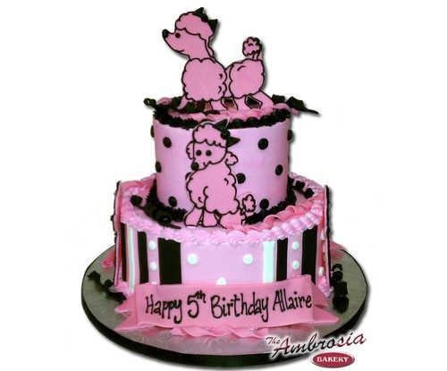 Ambrosia Poodle Cake