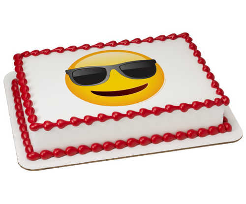 Emoji Sunglasses PhotoCake庐 Image