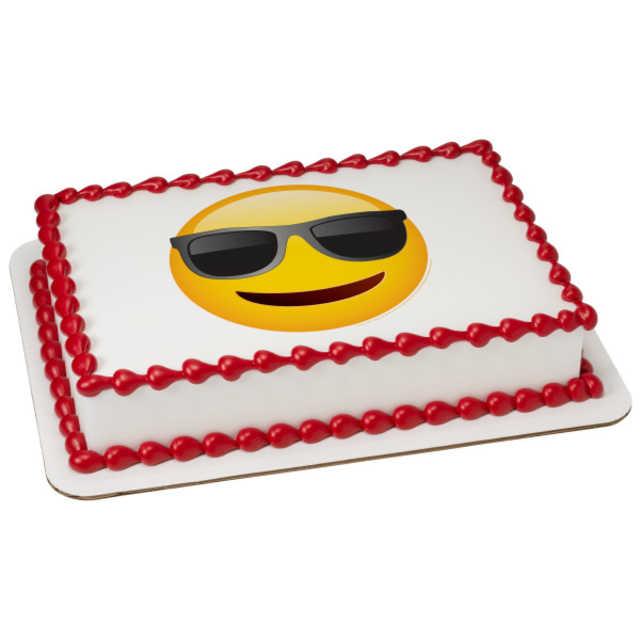 Emoji Sunglasses PhotoCake® Image