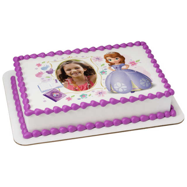 Sofia the First Dreaming in the Garden PhotoCake® Edible Image® Frame