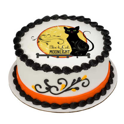 Black Cat PhotoCake® Image