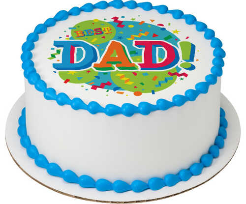 Best Dad Edible Image® Confetti