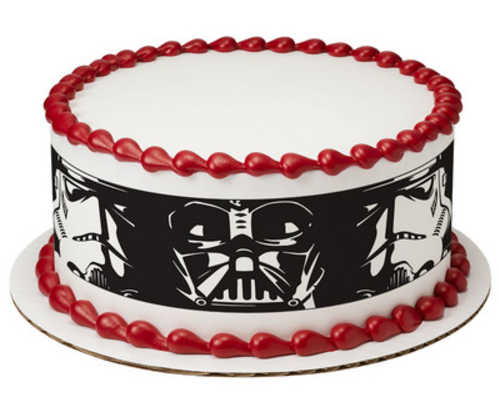 Star Wars Darth Vader & Stormtroopers PhotoCake® Image Strips