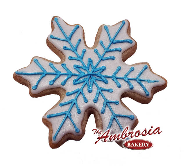 Decorated Snowflake Cut-Out Cookie