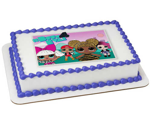 L.O.L. SURPRISE!™ You Glow Girl PhotoCake® Edible Image®