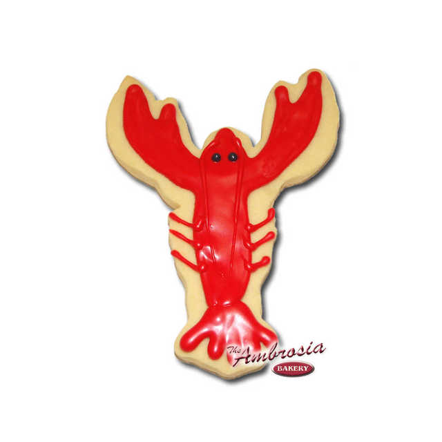 Decorated Crawfish Cut-Out Cookie