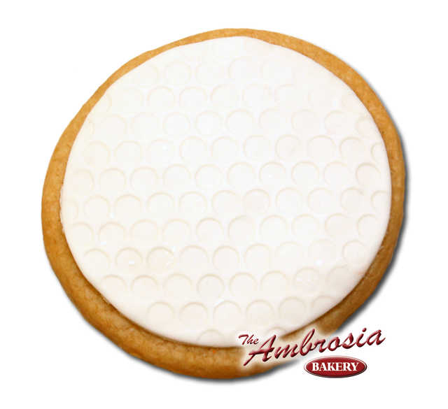 Decorated Fondant Golf Ball Cut-Out Cookie