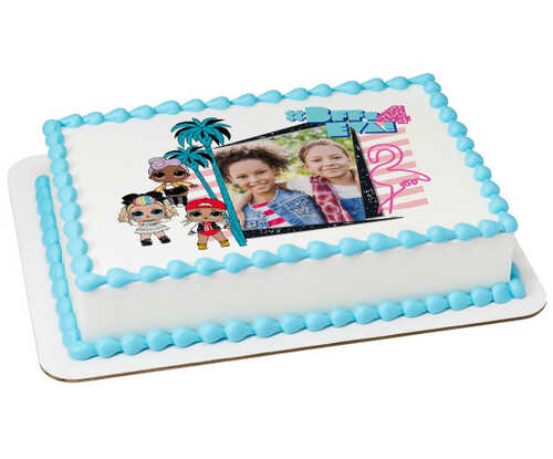 L.O.L. SURPRISE!™ #BFF's 4 Eva! PhotoCake® Edible Image® Frame